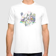 OURS OURS OURS Mens Fitted Tee SMALL White