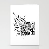 Break A (QR) Code Stationery Cards