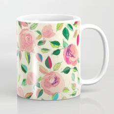 Pastel Roses in Blush Pink and Cream  Mug