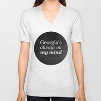 Georgia's Always On My M… Unisex V-Neck