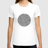 Scallops Womens Fitted Tee White SMALL