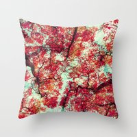 Candied Fall Throw Pillow