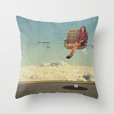 Up In The Air | Collage Throw Pillow