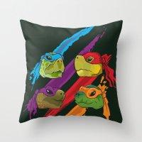 Turtle Heads Throw Pillow