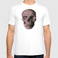 Linear Thinking Trip-Switch (P/D3 Glitch Collage Studies) Mens Fitted Tee White SMALL