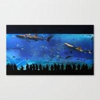 Chaurami Aquarium Whale Shark Tank Canvas Print