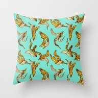 Banana Peel Pattern Throw Pillow