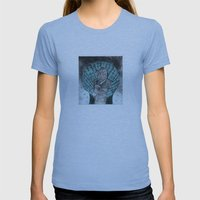 Smells like fish Womens Fitted Tee Athletic Blue SMALL