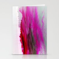 Purple Clouds Red Mountain Stationery Cards