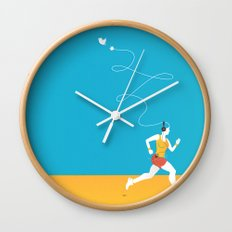 Plug yourself out Wall Clock