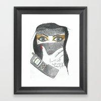 Banana Call Framed Art Print