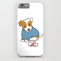 iPhone & iPod Case featuring Jack Russell Terrier Wearing Sweater Illustration by Li Kim Goh