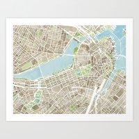 Boston Sepia Art Print