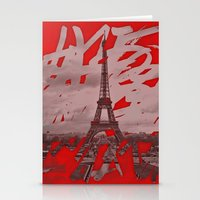 Je Romps Les Habitudes �… Stationery Cards