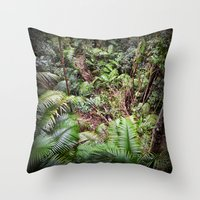 Rainforest Jungle Throw Pillow