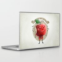 apple Laptop & iPad Skins featuring Apple by Lime