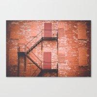Red Brick, Fire Escape Canvas Print