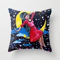 Selene's Moon Day Dreamzzz Throw Pillow