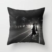 Streets of Kolkata Throw Pillow