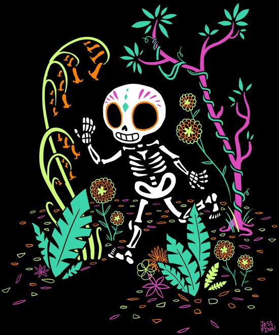 Sugar Skull Jungle Art Print