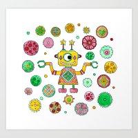 Robot Rita Art Print
