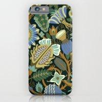 Flower Fantasy in blue iPhone 6 Slim Case
