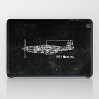 North American P51 Mustang (White) iPad Case
