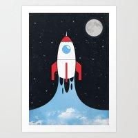 Rocket Art Print