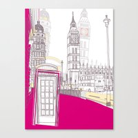 Lovely London II Canvas Print
