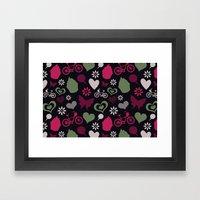 I Heart Patterns #008 Framed Art Print