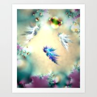 Seahorse Nursery Art Print