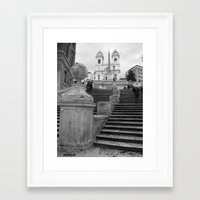 Framed Art Print featuring Spanish Steps by Amy Taylor