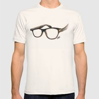 Hipster's Paradox Mens Fitted Tee Natural SMALL