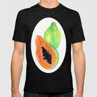 Papayas Mens Fitted Tee Tri-Black SMALL