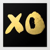 XO black Canvas Print