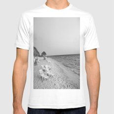 ocean 2 Mens Fitted Tee White SMALL