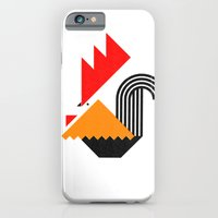 iPhone & iPod Case featuring Rooster (white) by Buchino