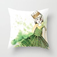 Little Queen Throw Pillow