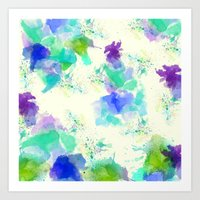 Printed Silk Ocean Spray Art Print