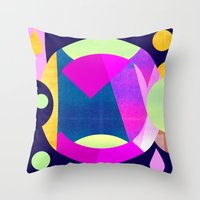 Abstractions No. 5: Pyramid Throw Pillow