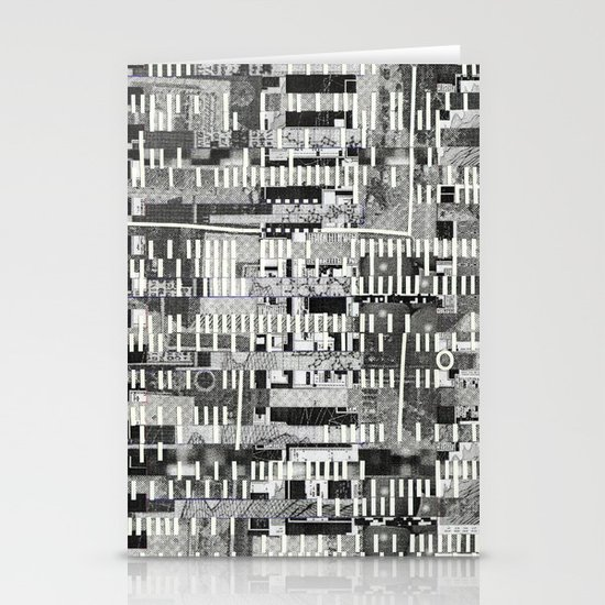 Exploiting Digital Behavior (P/D3 Glitch Collage Studies) Stationery Card