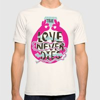 True Love Mens Fitted Tee Natural SMALL