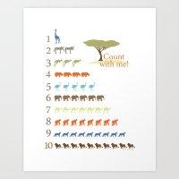 Counting Safari Animals … Art Print
