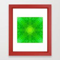 green star Framed Art Print