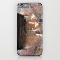 iPhone & iPod Case featuring river front steps by Cindy Munroe Photography