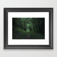 green portal Framed Art Print