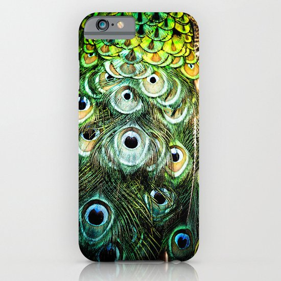 Feathers of a peacock  iPhone & iPod Case