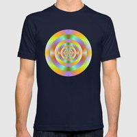 Psychedelic Target Rings Mens Fitted Tee Navy SMALL