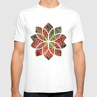 Floral Abstract 7 Mens Fitted Tee White SMALL