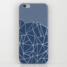 Ab Lines 45 Navy iPhone & iPod Skin